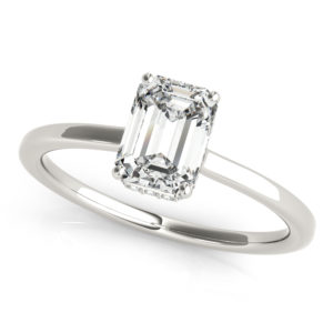 hidden halo simple engagement ring