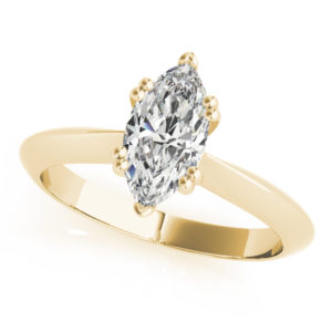 yellow gold marquise solitaire