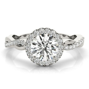 twisted shank popular engagement rings
