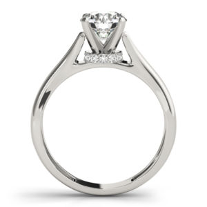 cathedral setting solitaire ring