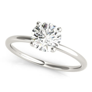 basket setting solitaire ring