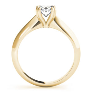 high set solitaire engagement ring