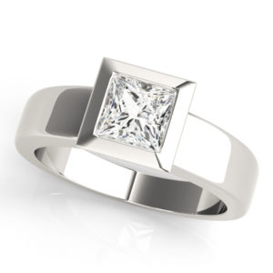 low setting solitaire ring